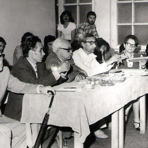 1978-79 - Examen de stat cu conf. Ciolpan Vasile, prof. Salvanu Virgil, prof. Vacariu Liviu, lector Cristea Viorica