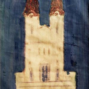 Monument, acuarelă, 70x100cm