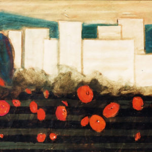 Cartierul Grigorescu, tempera, 100x70cm