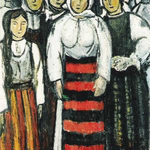 Ţărănci, ulei pe pânză, 70x100cm-1964
