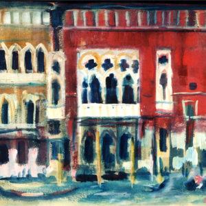 Veneţia II, tempera, 60x50cm