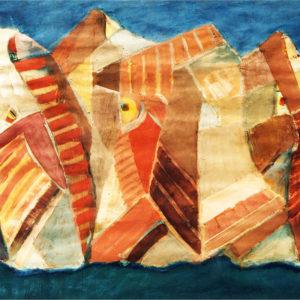 Forme şi culoare, tempera, 100x70cm