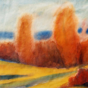 Poezia naturii, acuarela, 63x48cm