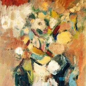 Flori de câmp, ulei pe carton, 40x60cm, 1986 (aprox)