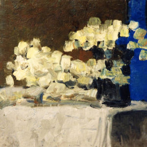 11Yellow flowers, oil on paperboard, 40 x 50 cm, not signed, undated (1980-90)