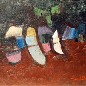 13Metamorphosis, oil on paperboard, 42 x 51 cm, signed, undated (ca. 1986)