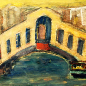 16Ponte Rialto, tempera, 35 x 50 cm, not signed, undated (ca. 1975)