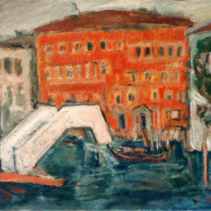 17Venice I, oil on paperboard, 48 x 60 cm, signed, undated (1980-90)