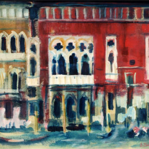 18Venice II, tempera, 50 x 60 cm, signed, undated (1980-90)