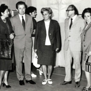 1Next to his wife and close friends. Solo exibition opening, Cluj-Napoca, 1980