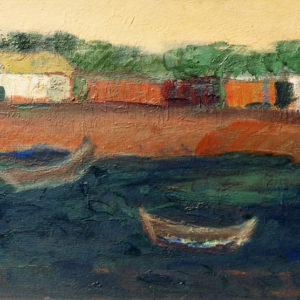21Tulcea, oil on paperboard, 35 x 50 cm, not signed, undated (1980-90)