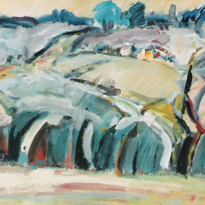 23Forest edge, tempera, 53 x 67 cm, not signed, undated (1980-90)