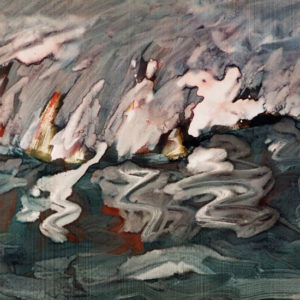 28The storm, tempera, 40 x 53 cm, not signed, undated (1970-80)
