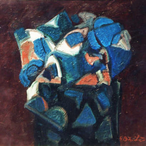 31Trap, oil on paperboard, 50 x 60 cm, signed, undated (ca. 1986)