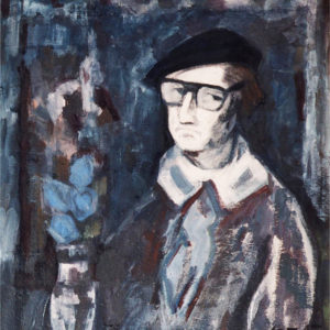 47Self-portrait, oil + tempera, on paperboard, 82 x 72 cm, signed, 1984