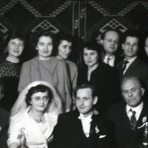 At the wedding of Liviu Florean, Next to Jeni and Liviu Florean, Vasile Crişan, master Ladea and his wife, January 31st 1960