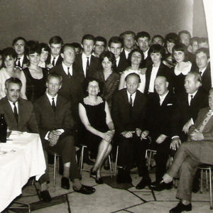 Meeting with professors and students, ca. 1960