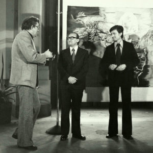 "Opening of the art exhibition of students from ""Ion Andreescu"" Institute during the event ""Young Romanian Artists in DRG"" Dresden, Germany, 1977"