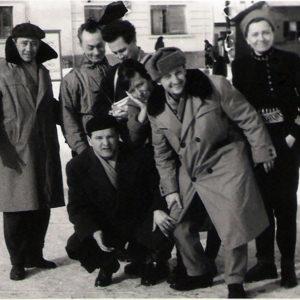 Vasile Crişan, Nandor Balasko, Doina Hordovan, Viorica Ionescu and Emil Băcilă, Câmpeni, February 1962